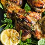 Lemony marinade does double duty for roasted chicken