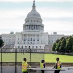 Fence going up around US Capitol, as law enforcement braces for Sept. 18 protest