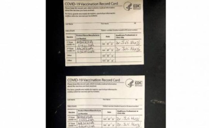 'AntiVaxMomma' accused of selling bogus vaccination cards
